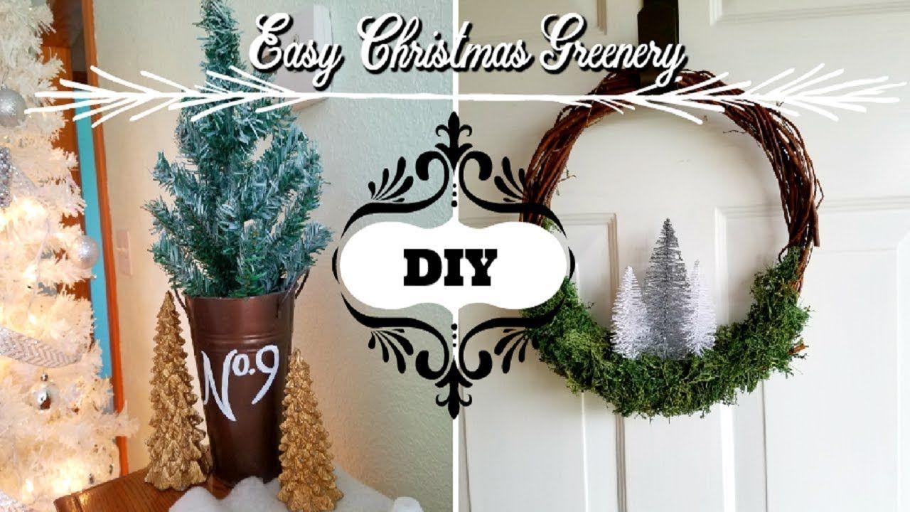 Dollar Tree DIYs - Easy & Quick Christmas Greenery - YouTube (With images) | Dollar tree diy ...