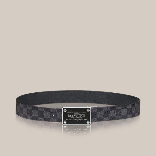 LV Inventeur Damier Graphite Reversible Belt - Louis Vuitton -  LOUISVUITTON.COM 22b94885947
