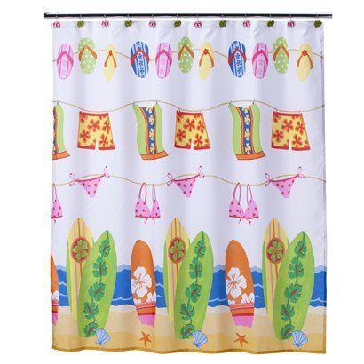 image result for kids beach bathroom shower curtain | kids