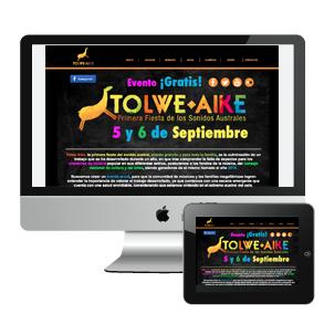 Diseño y creación de sitio web para FESTIVAL DE MUSICA EN VIVO TOLWE AIKE (Punta Arenas)