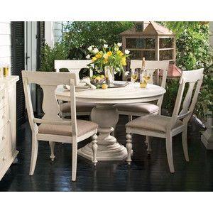 Paula Deenのホワイトダイニングセット  テーブル W1370(1820)×D1370×H770  サイドチェア W555×D670×H1150(座面高500)
