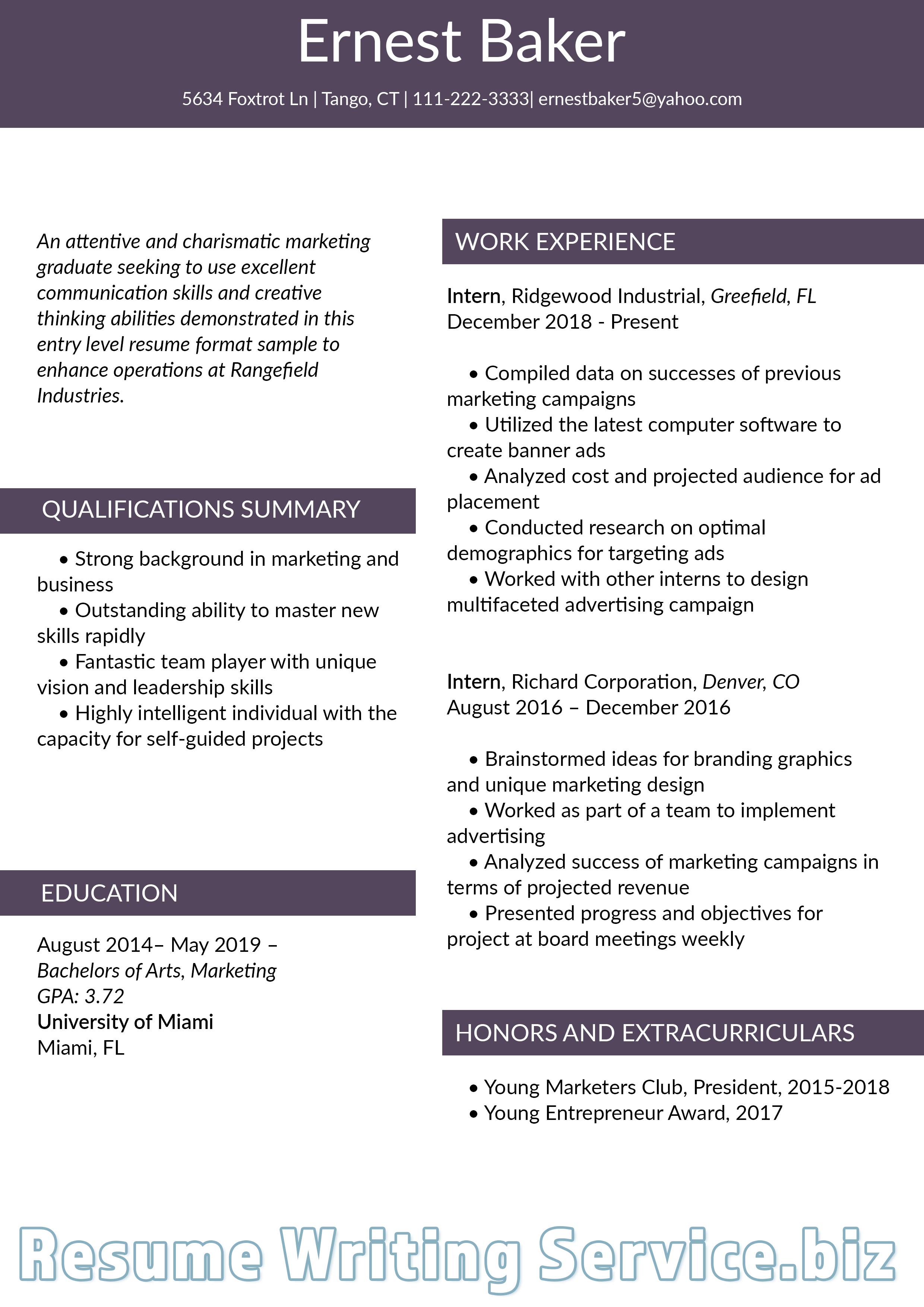Best Resume Format... Best resume format, Resume advice