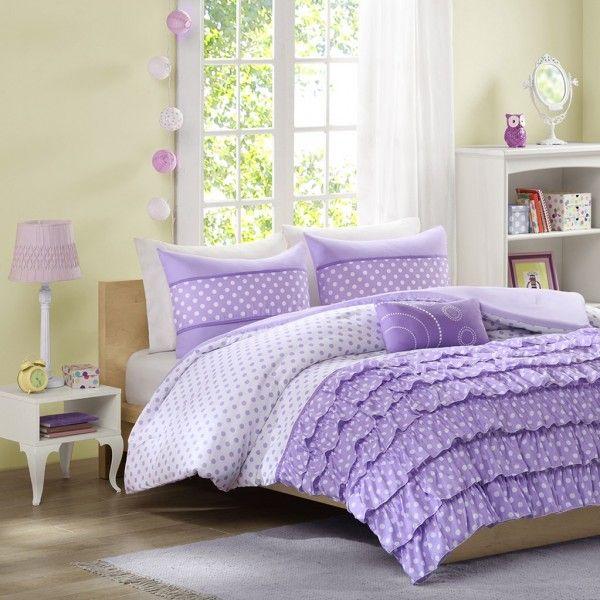Mizone Morgan Comforter Set Purple Mz10 231 2 Girls Comforter
