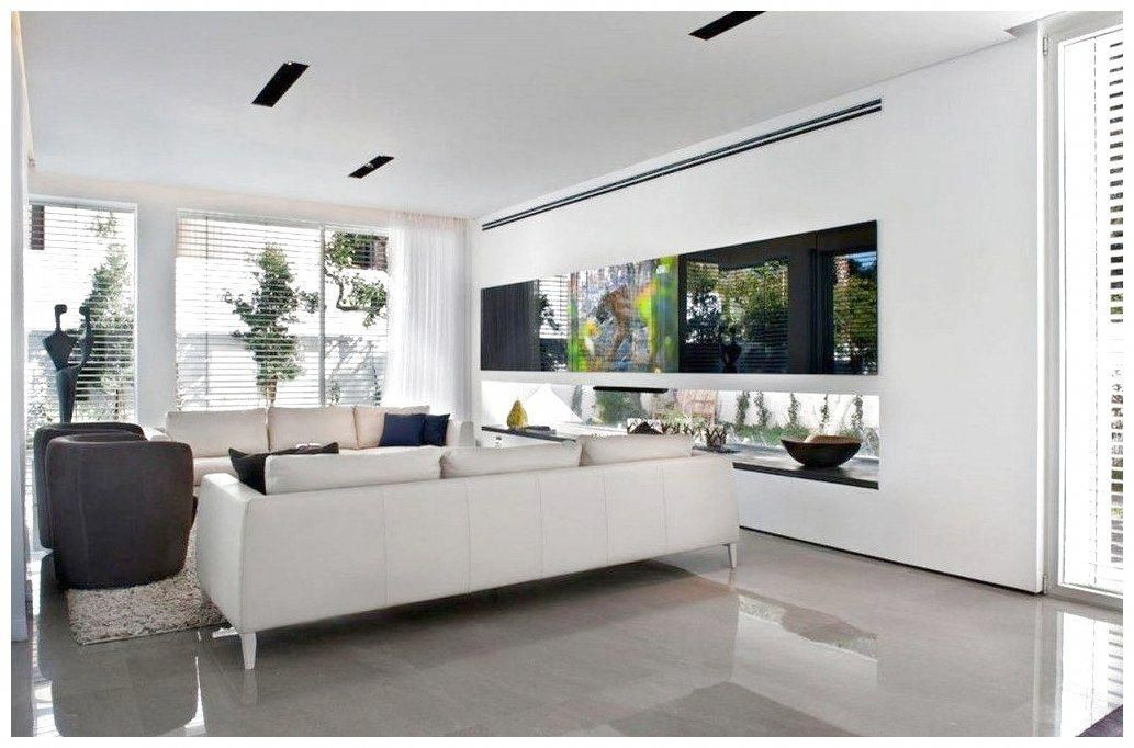Villa Small Living Room Design Ideas With Modern White Leather