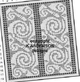 Filet Crochet Celtic Knot Chart by pinsneedlesandgems on Etsy ...