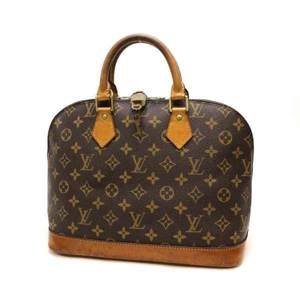 Louis Vuitton Alma  Monogram Handle bags Brown Canvas M51130