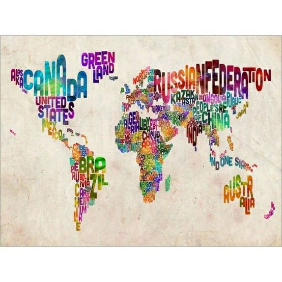 Oooh i want a large printout for that blank wall next to my bed d trademark art homemichael tompsett typography world map ii canvas art home decor trademark art wall decor home gumiabroncs Images