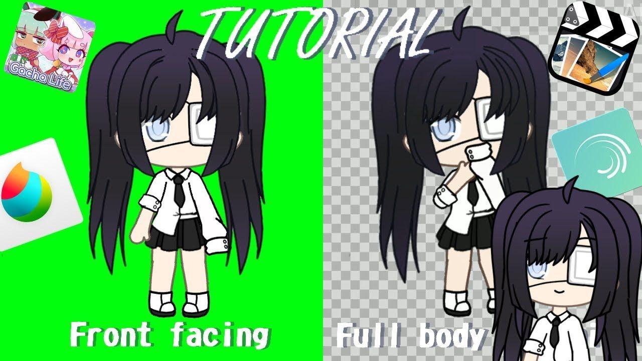 Gacha Life Front Facing Full Body Tweening Tutorial In 2020 Cute Anime Character Cute Drawings Drawing Body Poses