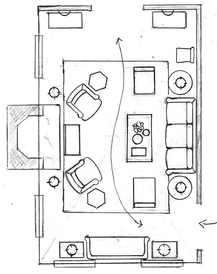 Floor Plan Furnished Living Room Layout Living Room Floor Plans Living Room Furniture Layout Family Room Layout