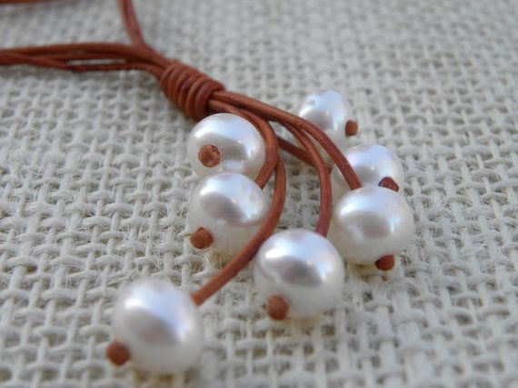 Hey, I found this really awesome Etsy listing at https://www.etsy.com/listing/89745104/pearl-cluster-sterling-silver-leather