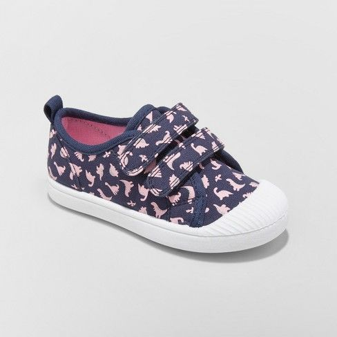 e0644433cb09 Toddler Girls  Madge Canvas Adjustable Easy Close Sneakers- Cat   Jack™    Target