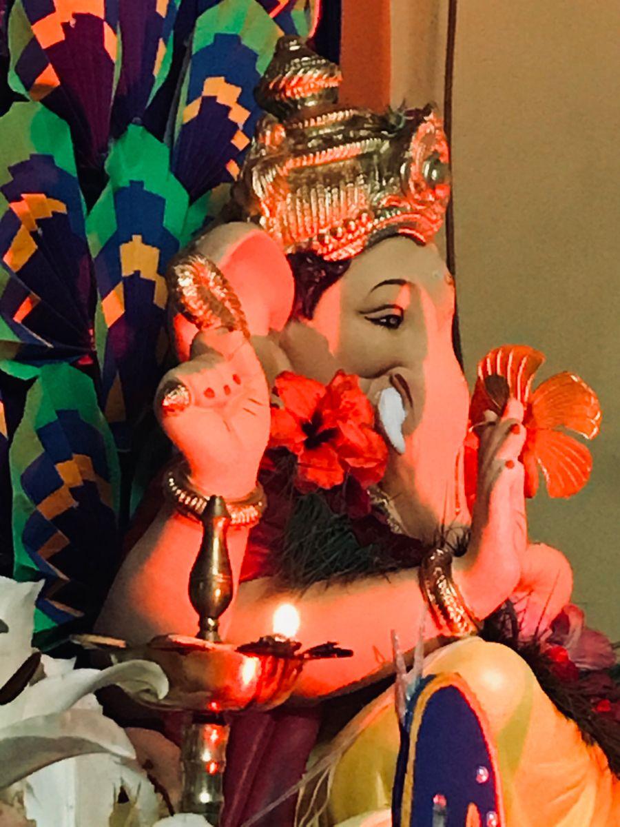Home Ganpati Bappa morya  🌺 #vignahartashreeganesha #ganpatibappa #ganpatifestival #2020
