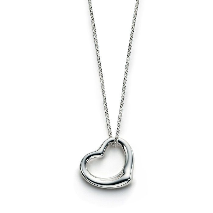 Silver Heart Necklace for someone you love