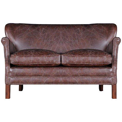 Halo Little Professor Petite 2 Seater Leather Sofa Antique Whisky With Images Leather Sofa Small Sofa Best Leather Sofa