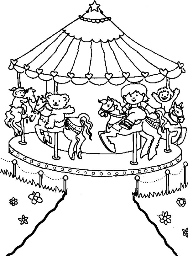 Carnival Carousel Picture Coloring Pages Best Place To Color Coloring Pages Animal Coloring Pages Coloring Pages For Kids