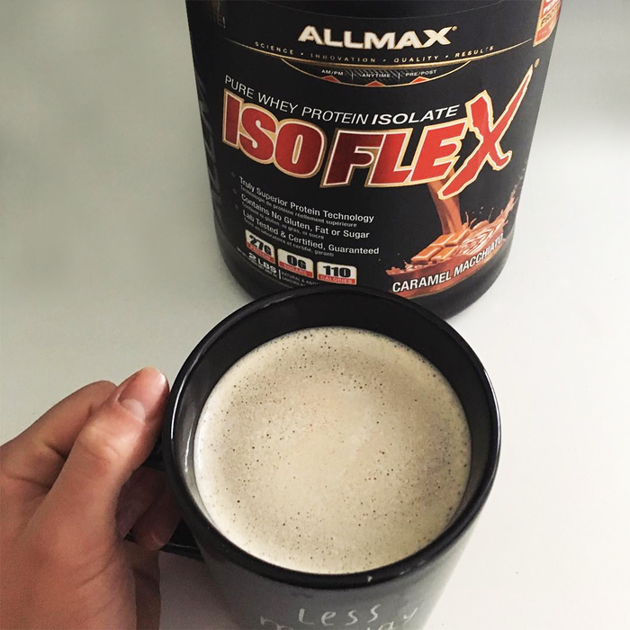Monday's are meant for Caramel Macchiato ISOFLEX mixed in