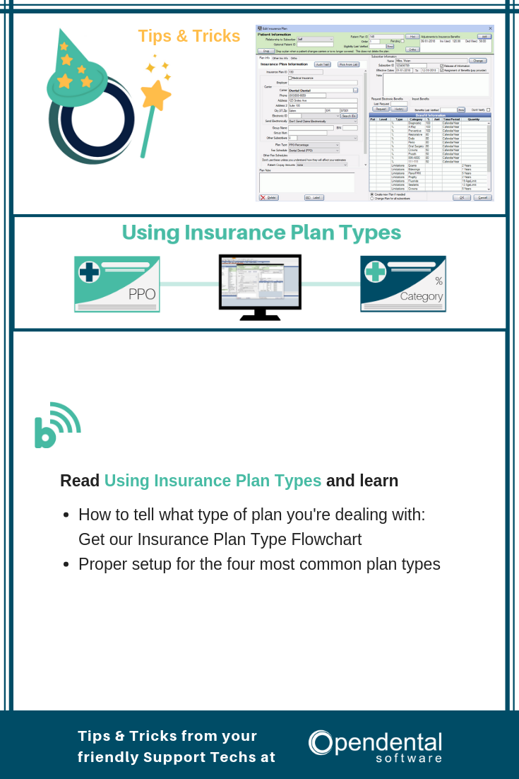 Insurance Plans Part 1 Common Plan Types How To Plan Dental Practice Management Types Of Planning