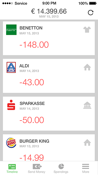 Online Banking App Features Numbrs App Interface Banking App App Design