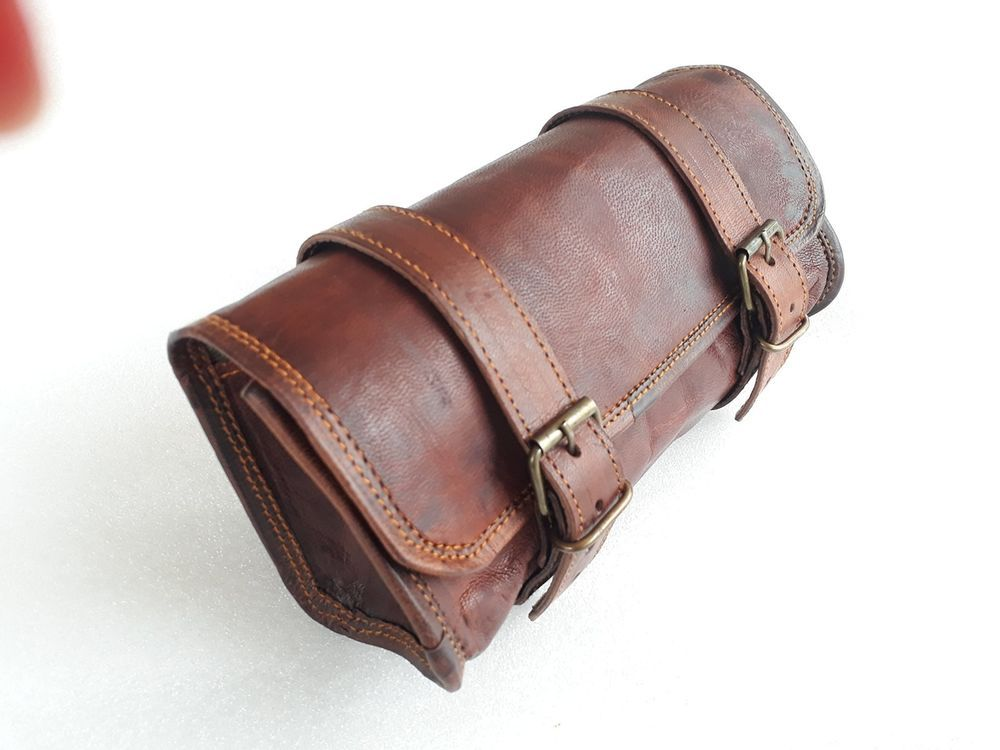 Goat Leather Handlebar Bag Fork Tool