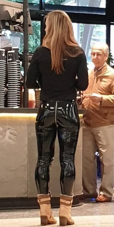 Photo of Stunning Crotch Zip PVC Pants Chick #laurethdysiac