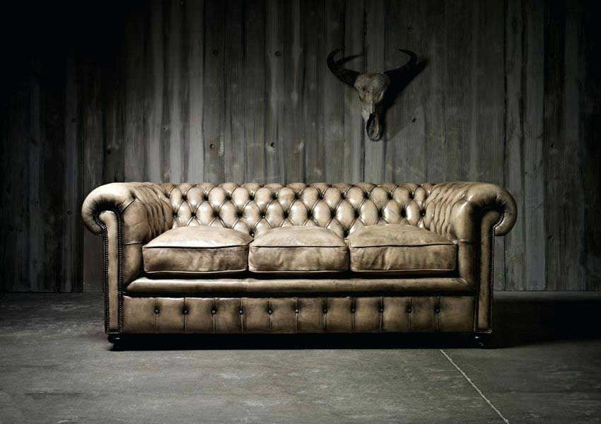 Canape Chesterfield Marron Chesterfield En 3 Places Canape