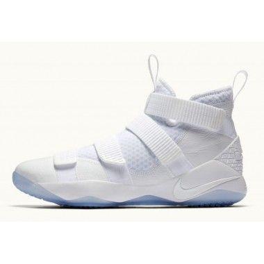 new arrival b9f07 ca9cb Nike LeBron Soldier 11 Men s White Black-Pure Platinum 897644-103