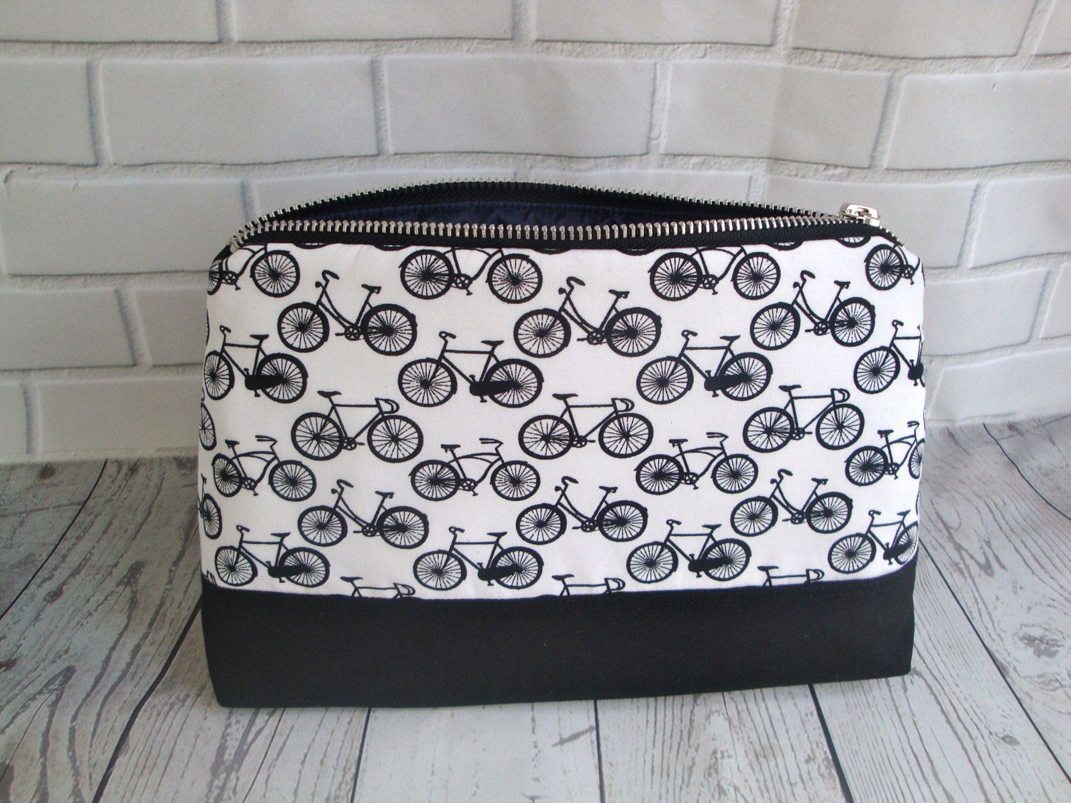 808008108f Mens funky black cotton Wash Bag - handmade - valentines gift - toiletry bag  - gift- bike wash bag - wash bag - unique mens wash bag by GerdaBags on Etsy