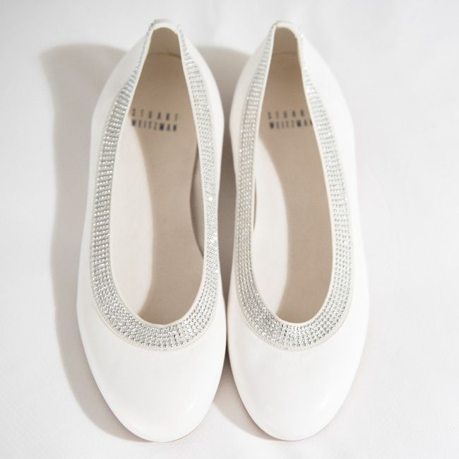 Bridal Shoes At Nordstrom: Stewart Weitzman Bejeweled Bridal Flats // Photo: Eli
