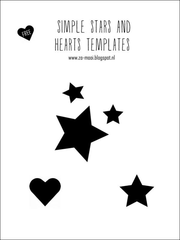 Zo mooi blog: DIY onesie with stars and FREE stars and heart template #printable