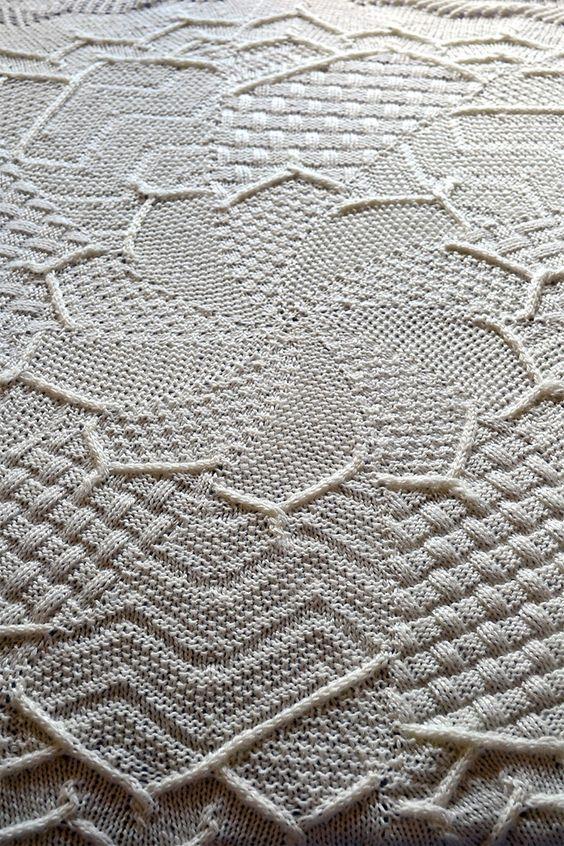 Free Knitting Pattern For Sampler Flower Baby Blanket