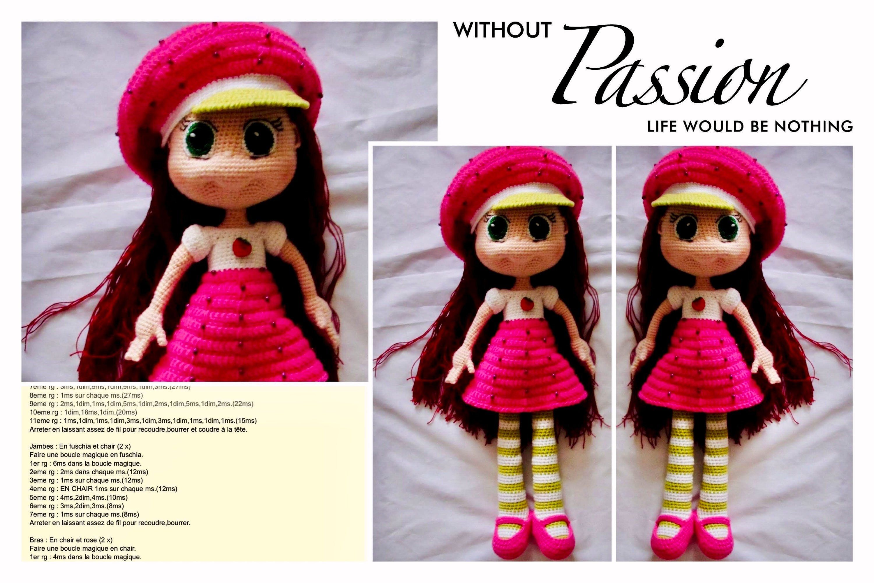 Amigurumi Pattern English Doll Amigurumi Pattern French