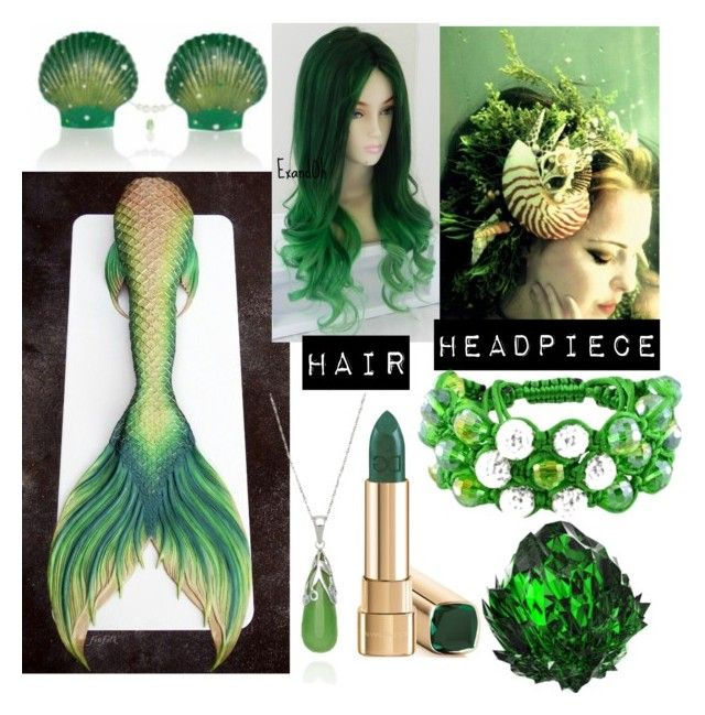 """""""Green mermaid"""" by postapocalyptic ❤ liked on Polyvore featuring Belk & Co. and Amour"""