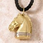 Trojan Horsehead Pendant, 18k Gold