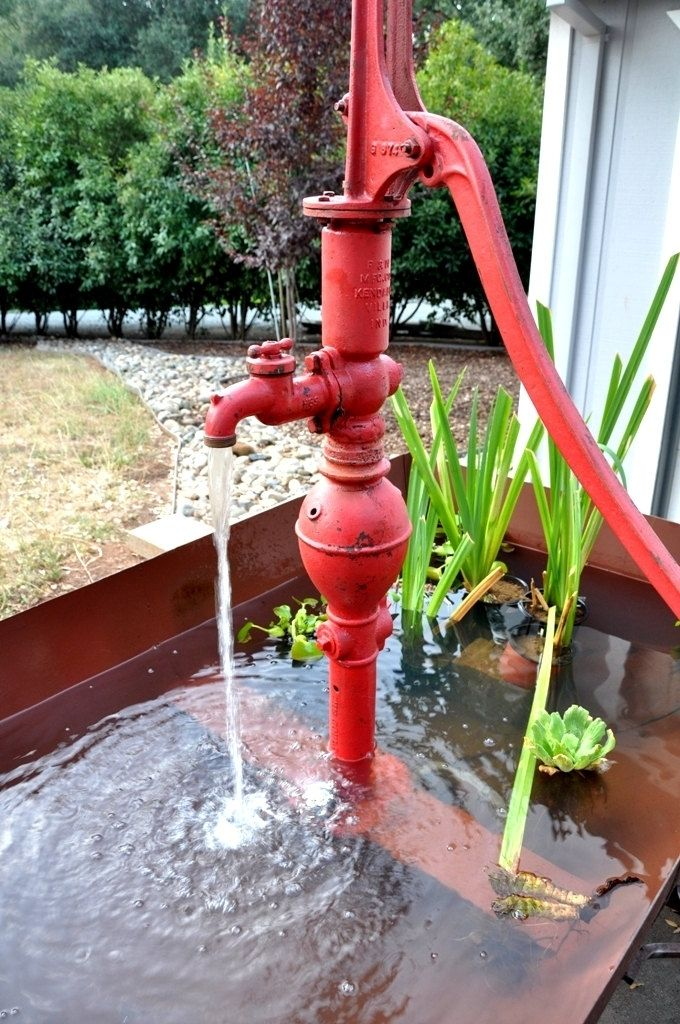 The Big Pappa Rustic Water Fountain Water Fountain Container Water Gardens Old Water Pumps
