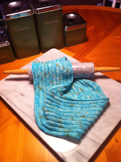 """Delicious Patterns - Groovy Crocheted Cowl - shown using """"Icing"""" by Delicious Yarns!  http://shop.deliciousyarns.com/Icing-10004.htm"""