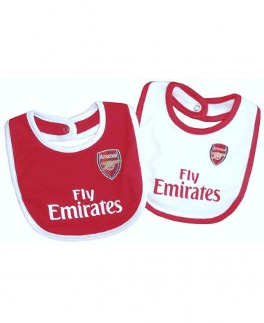 460801c62 Arsenal Baby Core 2 pack Bibs - 2016 17 Season