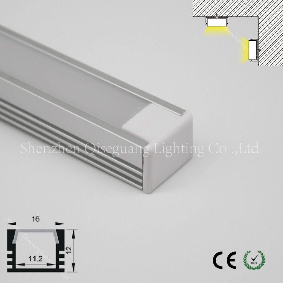 U shape aluminum channel 16x12mm for 11mm PCB led strips | alibaba ...