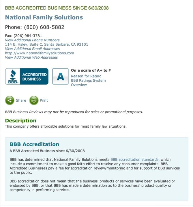 National Family Solutions Bbb Profile Www Nationalfamilysolutions Com Solutions National Web Address