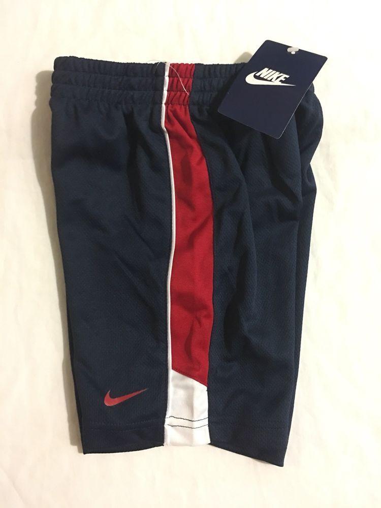 NIKE Boy/'s Shorts 2T 3T 4T Dri-Fit Black Gray Blue Volt Red
