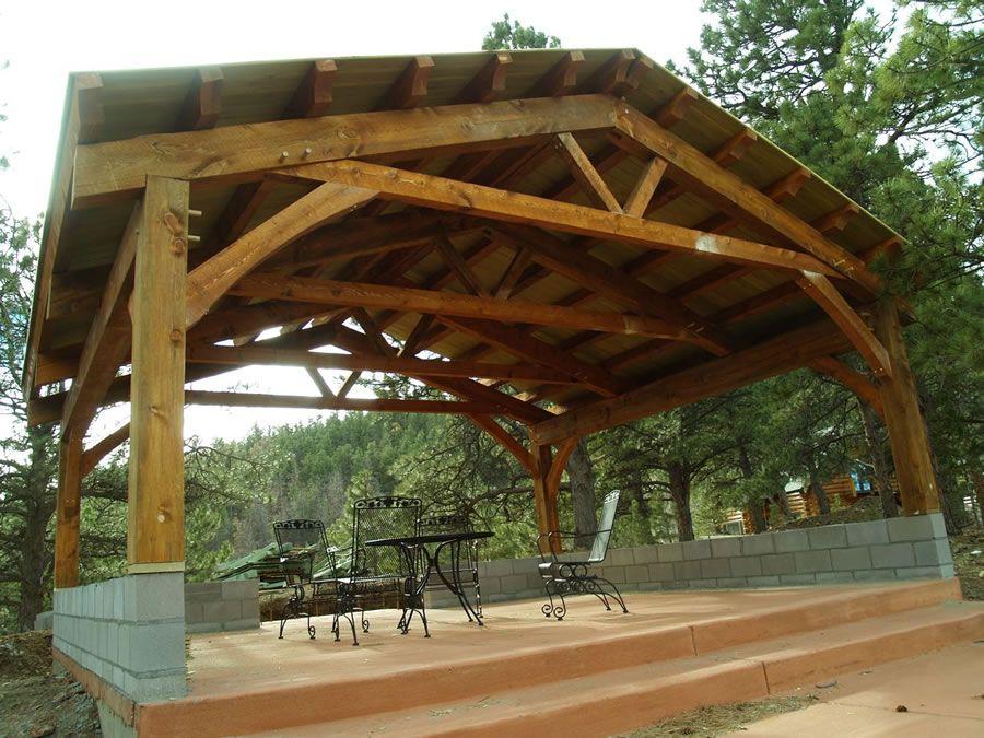 Quinlan Timber Frame Pavilion Timber Frame Timber Frame Pavilion Beam Structure