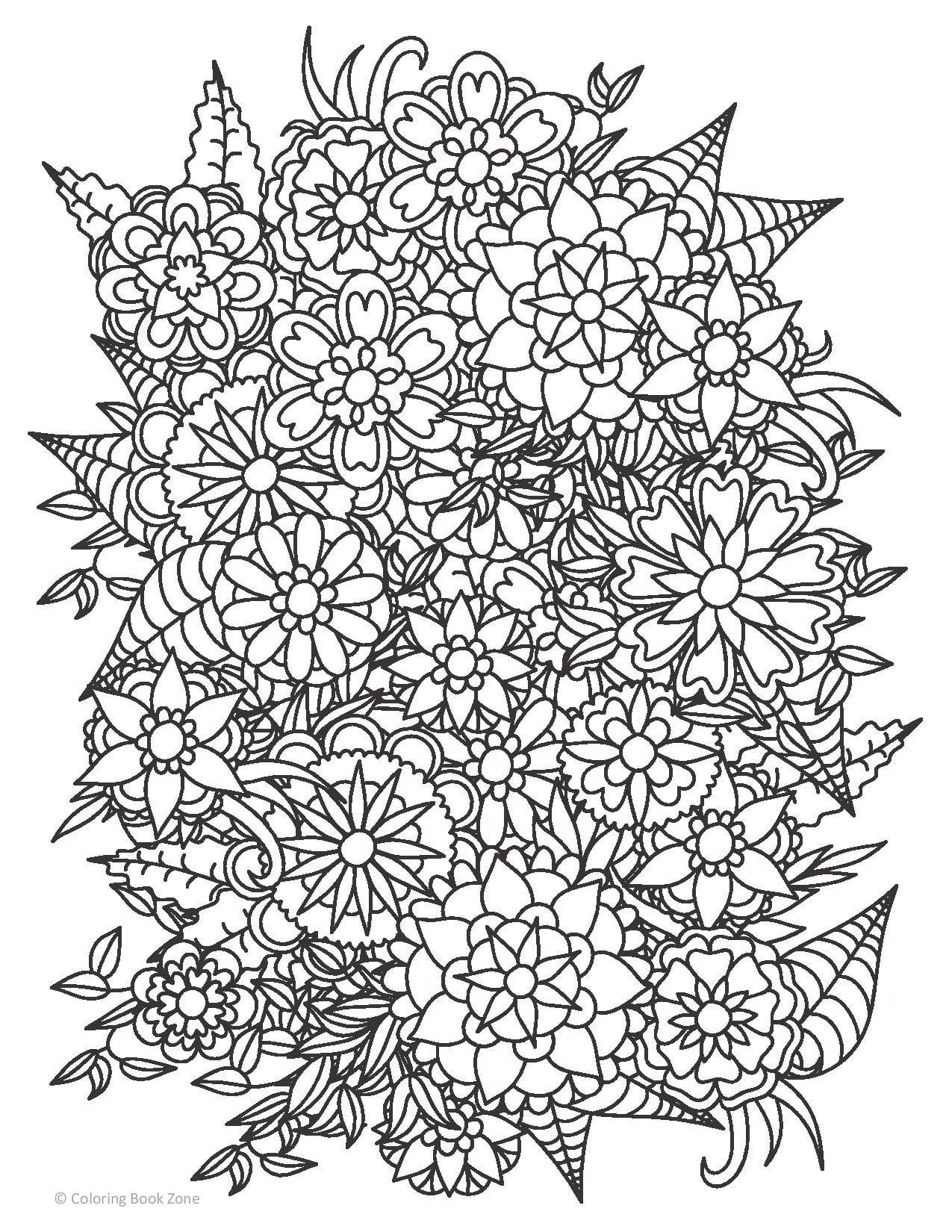 Take Time To Color The Flowers Coloring Book Live Your Life In Color Coloring Book Zone Abstract Coloring Pages Flower Coloring Pages Coloring Books