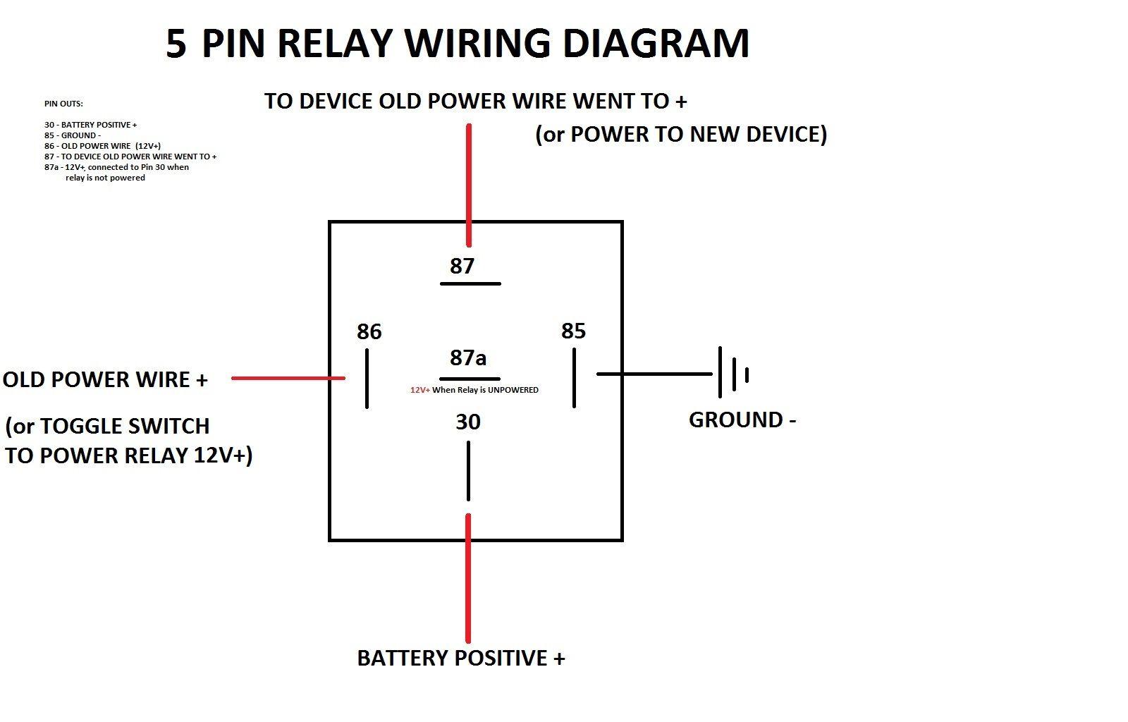 Simple 5 Pin Relay Diagram
