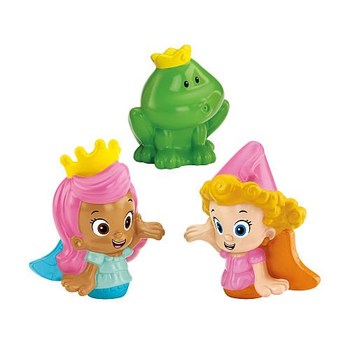 Fisher Price Bubble Guppies Molly, Deema And Frog Prince Bath Squirters