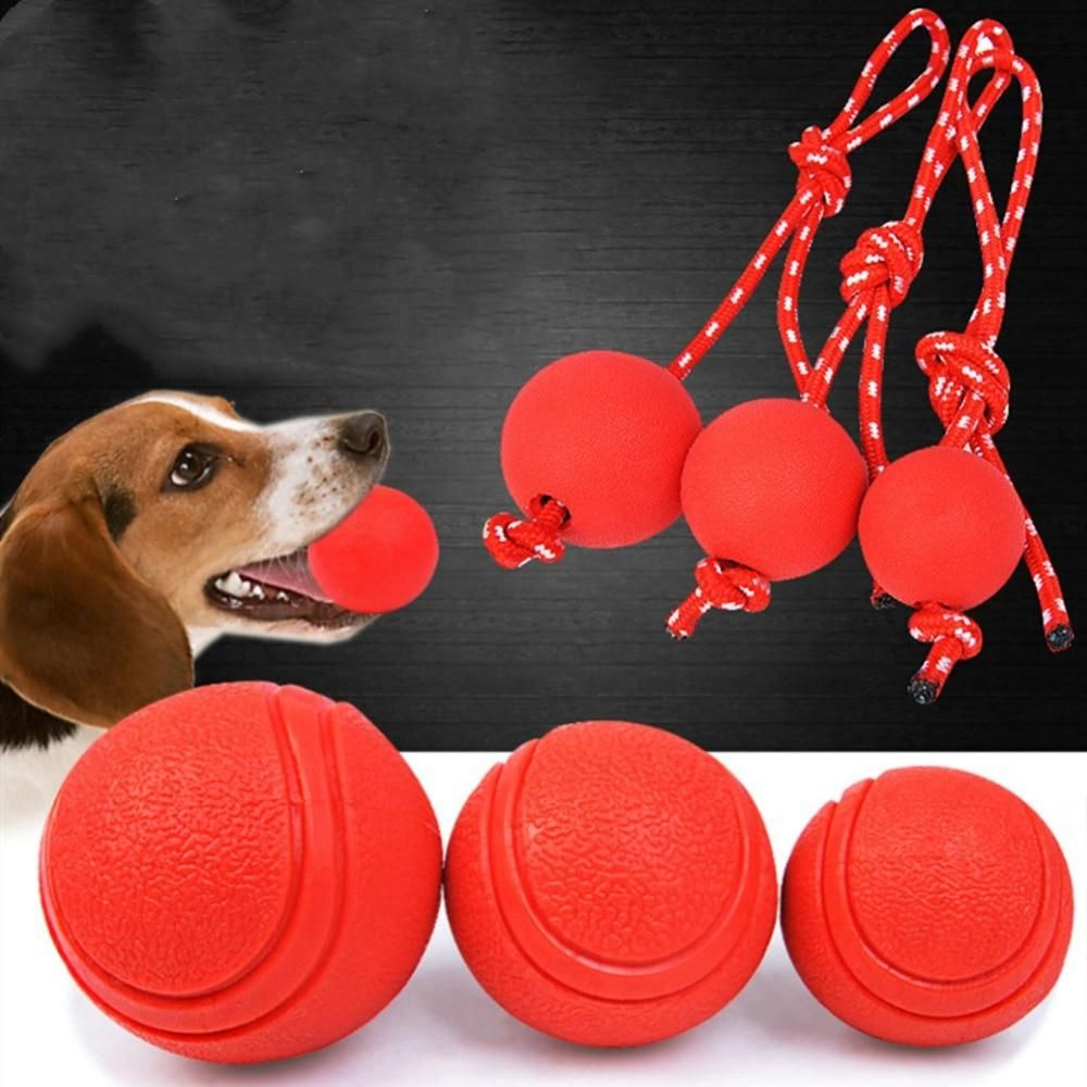 Dogs Rubber Teeth Bite Train Toy Pet Ball Cute Dog Toys Best