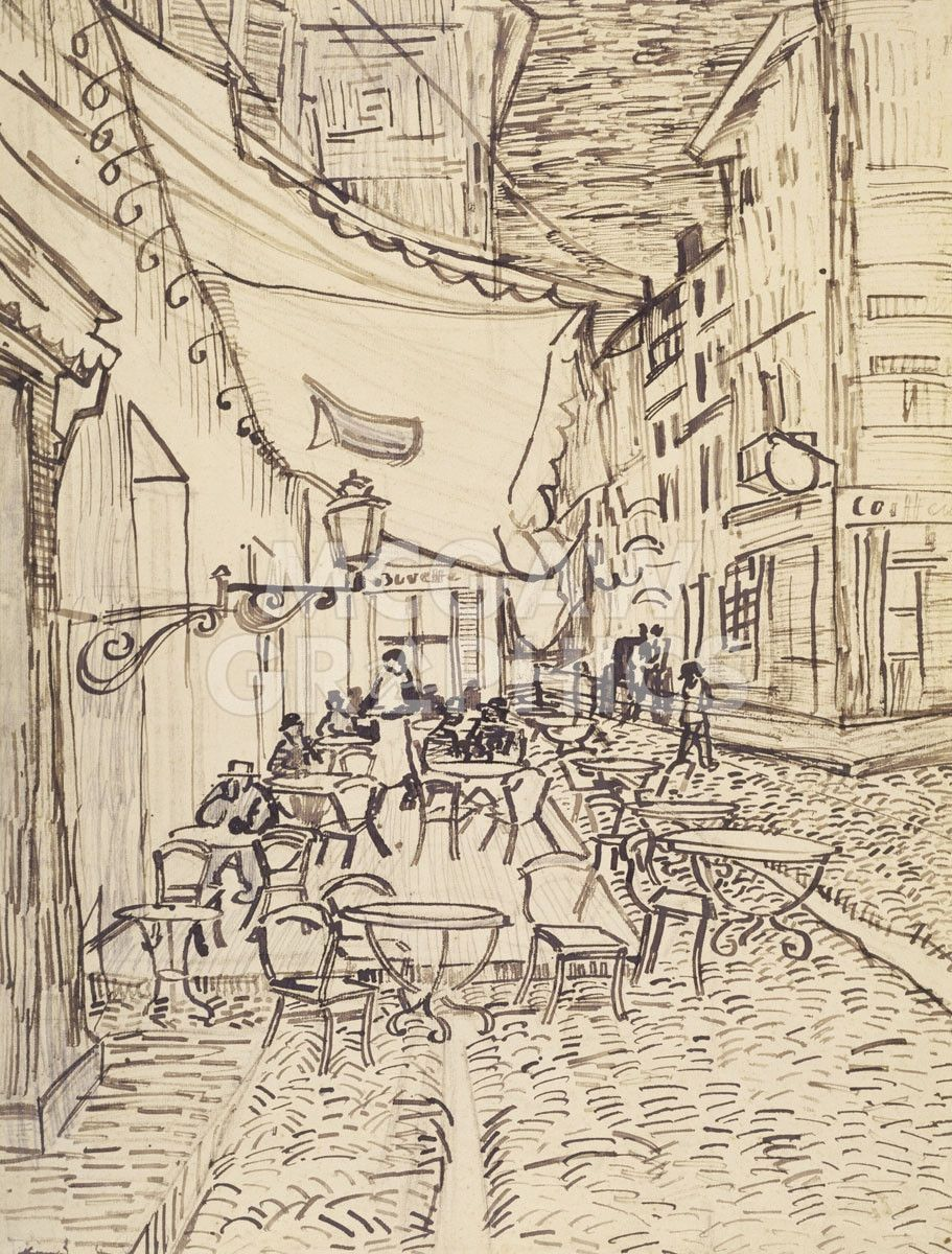 La Chambre à Coucher Van Gogh Wikipedia Cafe Terrace At Night 1888 Figure Drawing Van Gogh Drawings