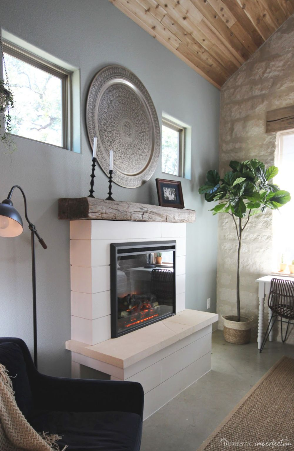 DIY Electric Fireplace Diy fireplace, Electric fireplace