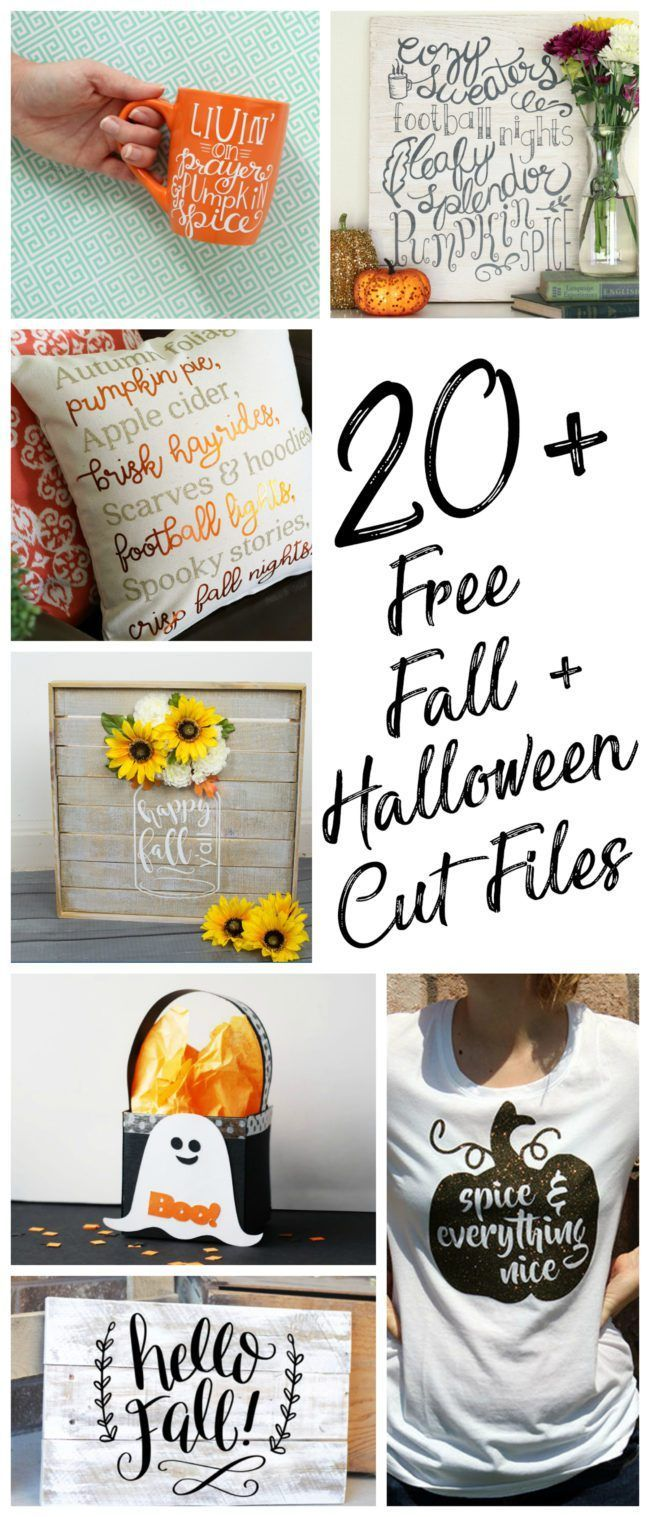 20 Free Fall and Halloween Cut Files Silhouette and Cricut Cutting Machines - Poofy Cheeks