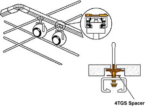 Track lighting mounted on suspended ceiling t grid store front track lighting mounted on suspended ceiling t grid aloadofball Images