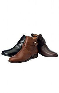 Leather Horseshoe Buckle Boot