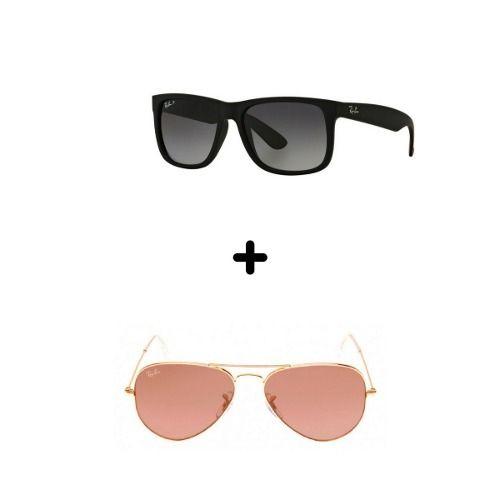 09b501f8a Óculos De Sol Aviador/justin Feminino Masculino Black Friday ...